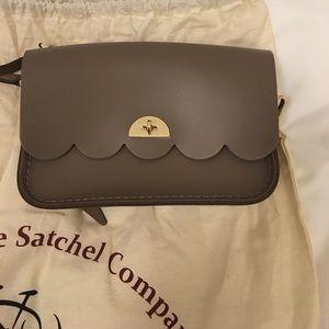 Cambridge Satchel Scallop Taupe/Grey Purse